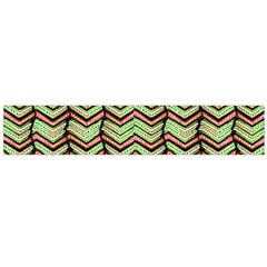 Zig Zag Multicolored Ethnic Pattern Large Flano Scarf  by dflcprintsclothing
