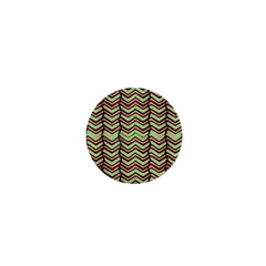 Zig Zag Multicolored Ethnic Pattern 1  Mini Buttons by dflcprintsclothing