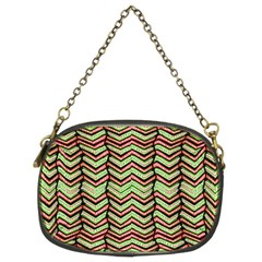 Zig Zag Multicolored Ethnic Pattern Chain Purses (two Sides)  by dflcprintsclothing