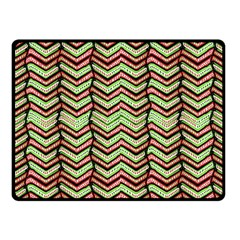 Zig Zag Multicolored Ethnic Pattern Fleece Blanket (small) by dflcprintsclothing