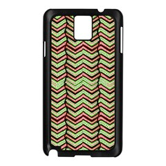 Zig Zag Multicolored Ethnic Pattern Samsung Galaxy Note 3 N9005 Case (black) by dflcprintsclothing