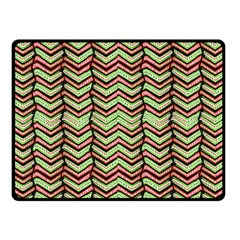Zig Zag Multicolored Ethnic Pattern Double Sided Fleece Blanket (small)  by dflcprintsclothing