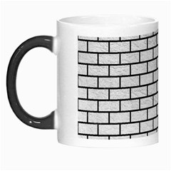 Brick1 Black Marble & White Leather Morph Mugs by trendistuff