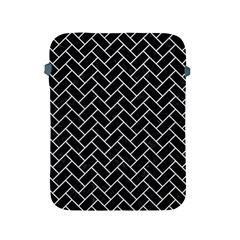 Brick2 Black Marble & White Leather (r) Apple Ipad 2/3/4 Protective Soft Cases by trendistuff