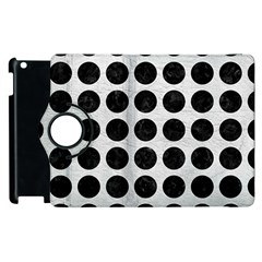 Circles1 Black Marble & White Leather Apple Ipad 2 Flip 360 Case by trendistuff