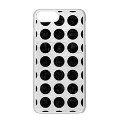 Circles1 Black Marble & White Leather Apple Iphone 7 Plus Seamless Case (white) by trendistuff