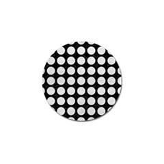 Circles1 Black Marble & White Leather (r) Golf Ball Marker (10 Pack) by trendistuff