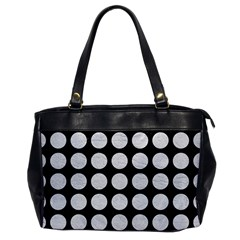 Circles1 Black Marble & White Leather (r) Office Handbags