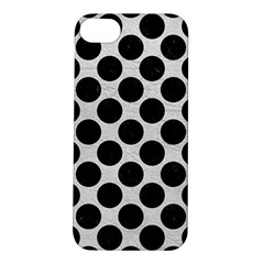 Circles2 Black Marble & White Leather Apple Iphone 5s/ Se Hardshell Case by trendistuff
