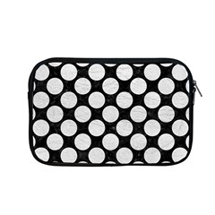 Circles2 Black Marble & White Leather (r) Apple Macbook Pro 13  Zipper Case by trendistuff