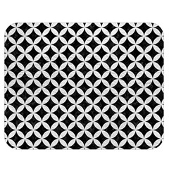 Circles3 Black Marble & White Leather (r) Double Sided Flano Blanket (medium)  by trendistuff