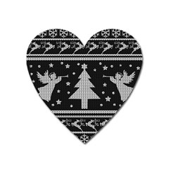 Ugly Christmas Sweater Heart Magnet by Valentinaart