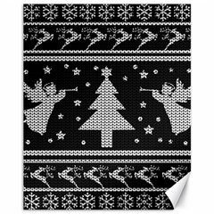 Ugly Christmas Sweater Canvas 11  X 14   by Valentinaart