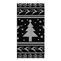 Ugly Christmas Sweater Shower Curtain 36  X 72  (stall)