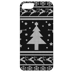 Ugly Christmas Sweater Apple Iphone 5 Classic Hardshell Case by Valentinaart