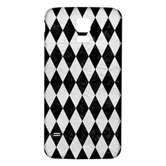 Diamond1 Black Marble & White Leather Samsung Galaxy S5 Back Case (white) by trendistuff