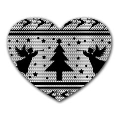 Ugly Christmas Sweater Heart Mousepads by Valentinaart