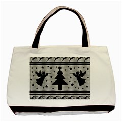 Ugly Christmas Sweater Basic Tote Bag (two Sides) by Valentinaart