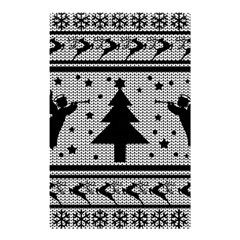 Ugly Christmas Sweater Shower Curtain 48  X 72  (small)  by Valentinaart