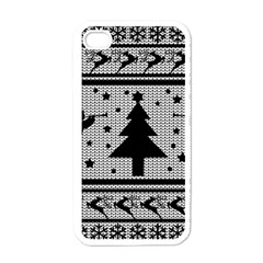 Ugly Christmas Sweater Apple Iphone 4 Case (white) by Valentinaart