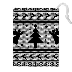 Ugly Christmas Sweater Drawstring Pouches (xxl)