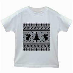Ugly Christmas Sweater Kids White T Shirts