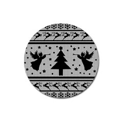 Ugly Christmas Sweater Magnet 3  (round) by Valentinaart