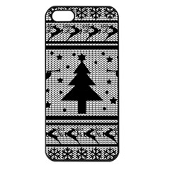 Ugly Christmas Sweater Apple Iphone 5 Seamless Case (black)