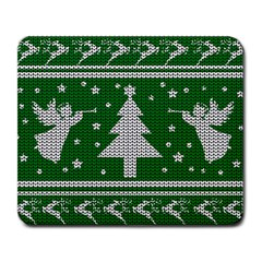 Ugly Christmas Sweater Large Mousepads by Valentinaart