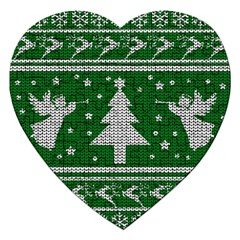 Ugly Christmas Sweater Jigsaw Puzzle (heart) by Valentinaart