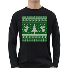 Ugly Christmas Sweater Long Sleeve Dark T-shirts by Valentinaart