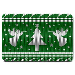 Ugly Christmas Sweater Large Doormat  by Valentinaart
