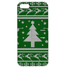Ugly Christmas Sweater Apple Iphone 5 Hardshell Case With Stand by Valentinaart