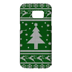 Ugly Christmas Sweater Samsung Galaxy S7 Edge Hardshell Case by Valentinaart