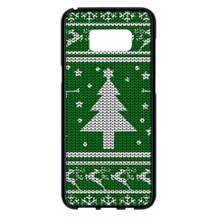Ugly Christmas Sweater Samsung Galaxy S8 Plus Black Seamless Case by Valentinaart