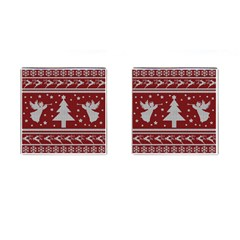 Ugly Christmas Sweater Cufflinks (square) by Valentinaart