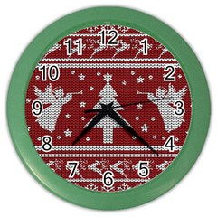 Ugly Christmas Sweater Color Wall Clocks by Valentinaart