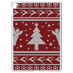 Ugly Christmas Sweater Apple Ipad Pro 9 7   White Seamless Case by Valentinaart