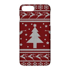 Ugly Christmas Sweater Apple Iphone 8 Plus Hardshell Case by Valentinaart