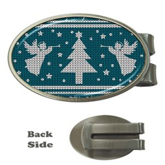 Ugly Christmas Sweater Money Clips (oval)  by Valentinaart