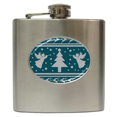 Ugly Christmas Sweater Hip Flask (6 Oz) by Valentinaart