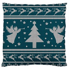 Ugly Christmas Sweater Large Cushion Case (one Side)