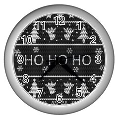 Ugly Christmas Sweater Wall Clocks (silver)