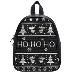 Ugly Christmas Sweater School Bag (small) by Valentinaart
