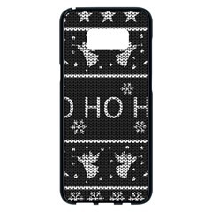 Ugly Christmas Sweater Samsung Galaxy S8 Plus Black Seamless Case