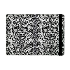Damask2 Black Marble & White Leather Ipad Mini 2 Flip Cases by trendistuff