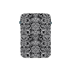 Damask2 Black Marble & White Leather (r) Apple Ipad Mini Protective Soft Cases by trendistuff