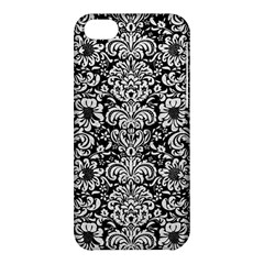 Damask2 Black Marble & White Leather (r) Apple Iphone 5c Hardshell Case by trendistuff