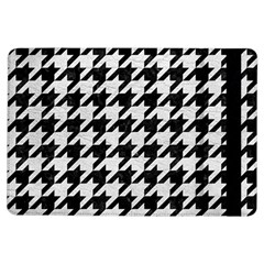Houndstooth1 Black Marble & White Leather Ipad Air Flip by trendistuff