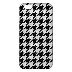 Houndstooth1 Black Marble & White Leather Iphone 6 Plus/6s Plus Tpu Case by trendistuff
